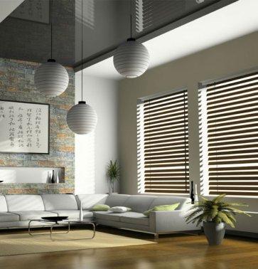 persiana veneciana de aluminio imitación madera - lama 25mm