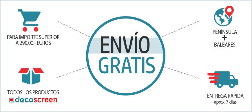 Envío GRATIS para pedidos superiores a 290,00.€