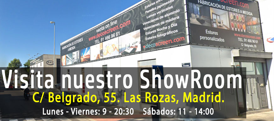 ShowRoom Exposición Estores Decoscreen.com