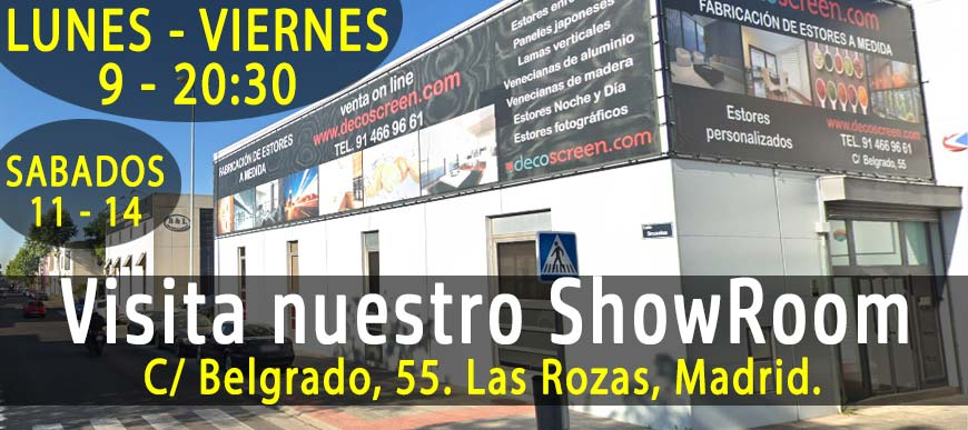 ShowRoom Exposición Estores Decoscreen